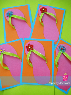 DIY Flip Flop Invitations