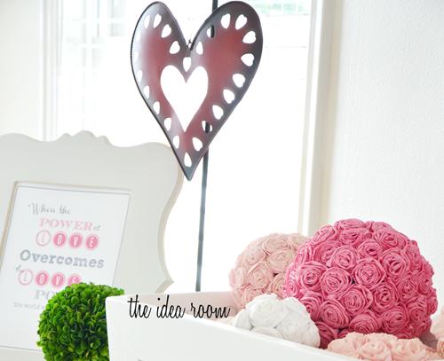 Tissue Paper Rosettes For Valentine's