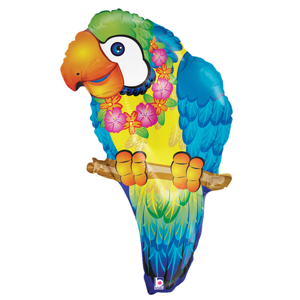 Supershape Parrot Balloon by Partyrama