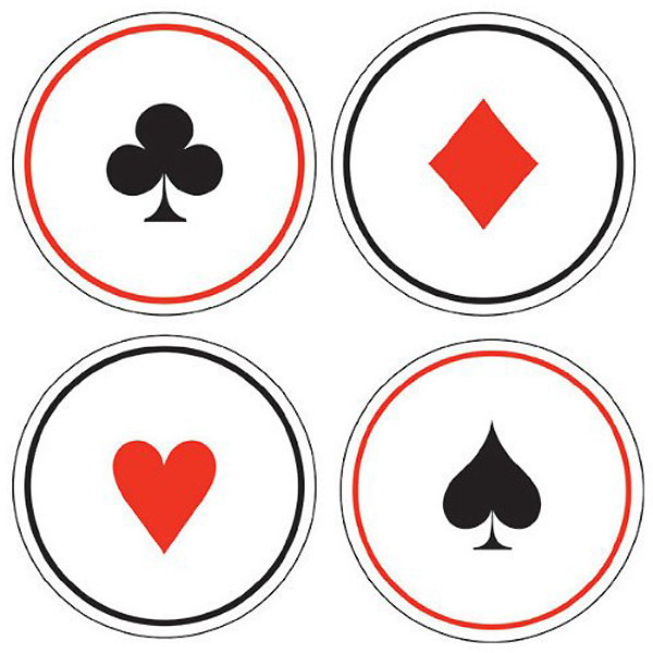 Playing Card Coasters by Partyrama