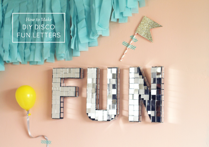 Fun DIY Disco Letters