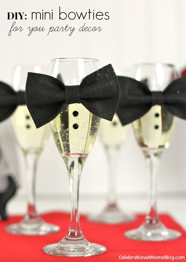 Champagne Flute Bow Ties