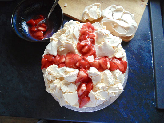 Eton Mess Cake for St Georges Day