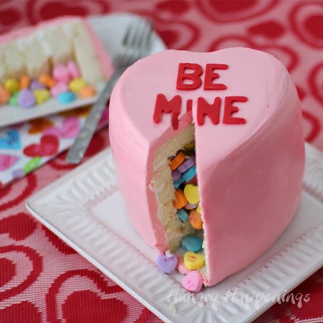 Valentine's Day Pinata Cake