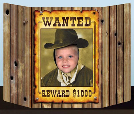 Western Wanted Photo Prop by Partyrama