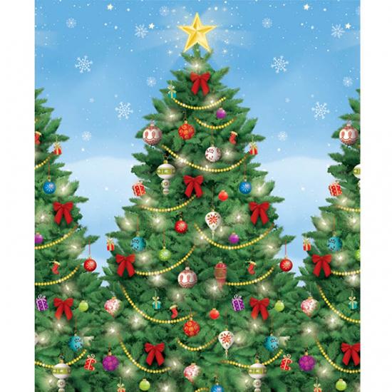 Evergreen Christmas Backdrop Scene Setter Room Roll