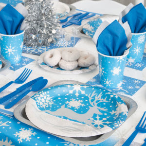 Christmas Silver Snowflake Tableware from Partyrama