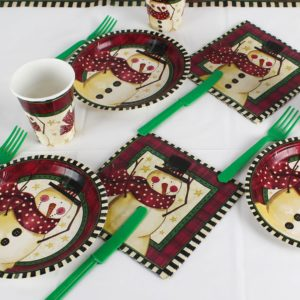 Cozy Snowman Christmas Tableware from Partyrama