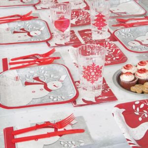 Frosted Holiday Christmas Tableware from Partyrama