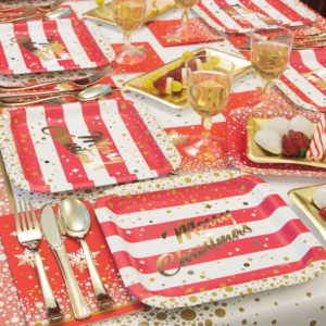 Gold Sparkle Christmas Tableware from Partyrama