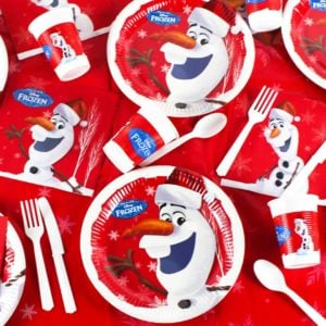 Disney Frozen Olaf Christmas Tableware from Partyrama