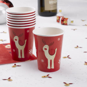 Rocking Rudolph Paper Cup from Partyrama