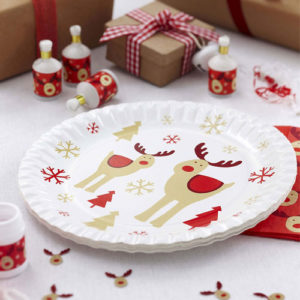 Rocking Rudolph Plate from Partyrama