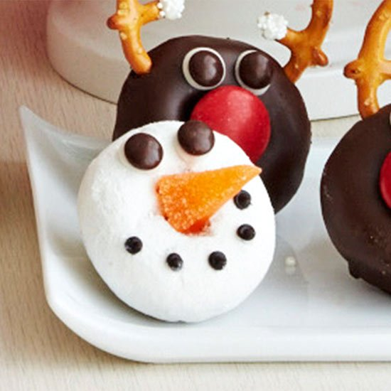 Snowman Donuts - Christmas Party Ideas