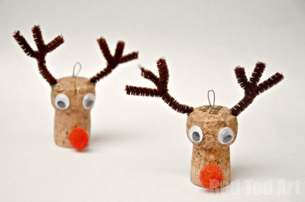 Reindeer Cork Ornaments