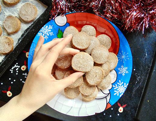 Christmas Sparkling Cinnamon Shortbreads