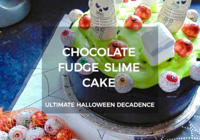 Halloween Chocolate Fudge Slime Cake Recipe