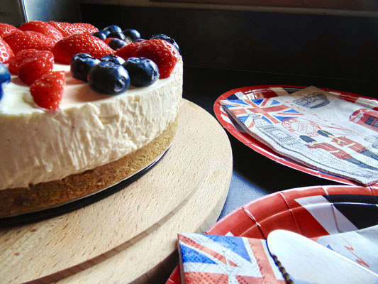 Union Jack Vanilla Cheesecake Recipe
